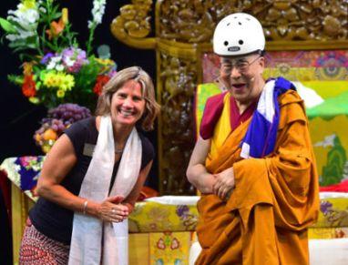 Dalai Lama Bike Helmet